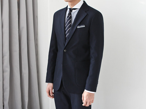 (select) james single suit . navy