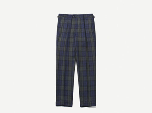 B.ROVER - BLACK WATCH LINEN BELTLESS PANTS