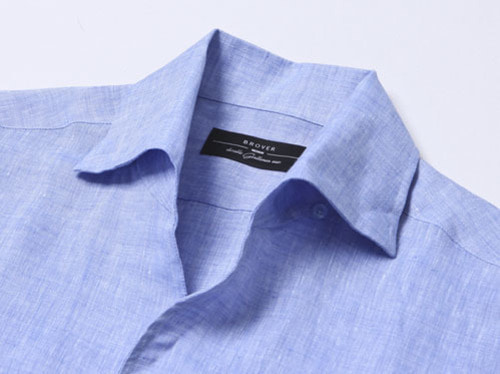 B.ROVER - ONE PIECE COLLAR LINEN SHIRTS SKYS/S PREMIUM FABRIC