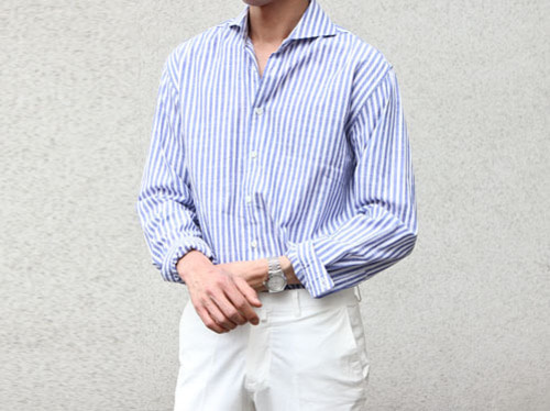 (select) linen wide collar shirts