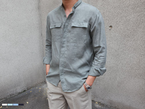 (select) linen 2pocket shirts