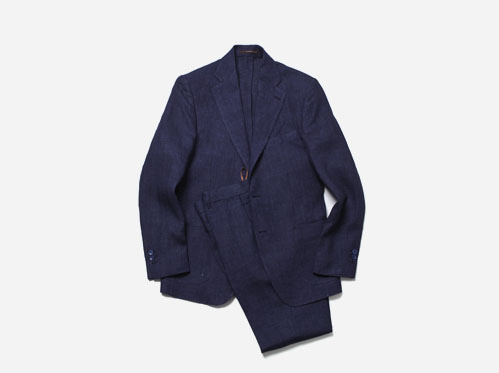 (select) marina linen suit . navy