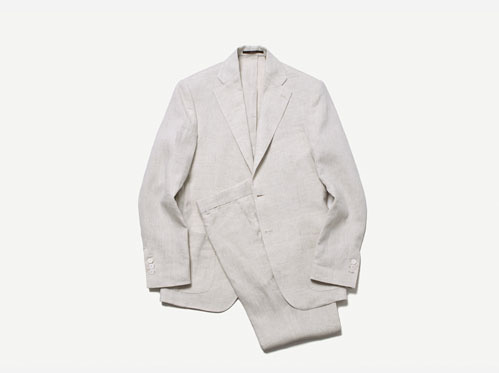 (select) marina linen suit . beige