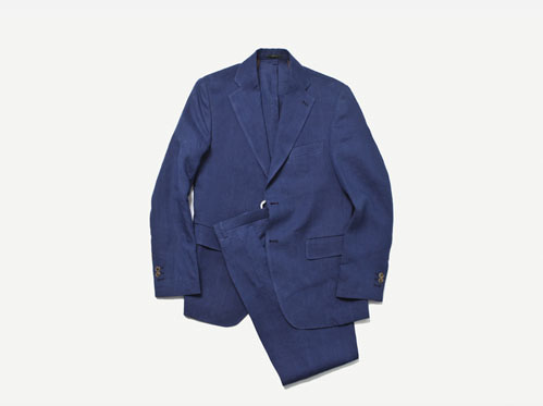 (select) anderson linen suit . navy