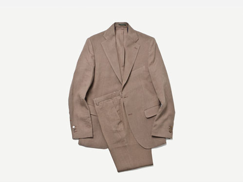 (select) anderson linen suit . brown