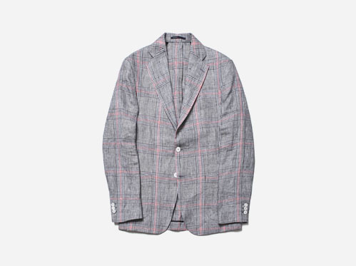 (select) magnum linen # jacket※ limited-edition linen check