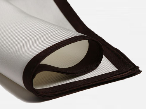 pocket square brown